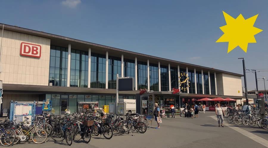Железнодорожный вокзал Вюрцбурга. Германия.